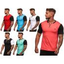 Herren Men Trend T-Shirt Used Deko V-Neck