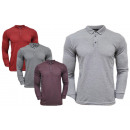 Men's Trend Polo Shirt Sweatshirt Longsleeve P