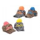 Plush Bobble Hat Cap Caps Colorful Winter Print