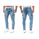 Fashionable men's jeans trousers Vintage cargo