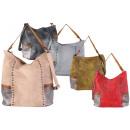Ladies Trend Bag Handbag Rivets Metallic
