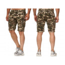 Großhandel Shorts: Herren Men Capri Hose Cargo Bermuda Camouflage