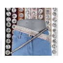 Women's hip belt hip belt with rhinestones
