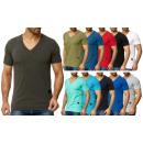 T-Shirt básica para hombre Trend V-Neck Uni para h