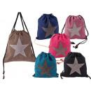 Gym Bag Shoe Canvas Star Star Mix