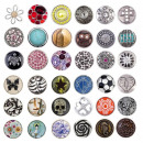 12mm CHUNK buttons Pearl Rhinestone chunks buttons
