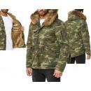 Manteau à capuche Camouflage pour hommes