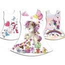 Großhandel Fashion & Accessoires: Kinder Mädchen  Trend Kleid Einhorn Blumen Emoji