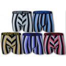 Großhandel Dessous & Unterwäsche: Herren Boxershorts  Boxer Baumwolle Streifen Basic