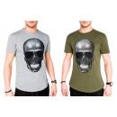 Mens Men Trend T-Shirt Skull Skull Shirt
