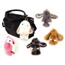 borse Trendy Charms animali vera pelliccia Trendy
