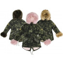 Kids Girls Trend Jacket Parka Coat Camouflage