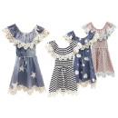 Gyerek gyerekek lányok ruha farmer ruha Volant