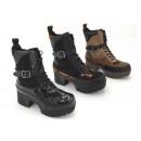 Großhandel Schuhe: Damen Woman Trend Stiefletten Stiefel Leopard
