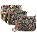 grossiste Sacs à main: Les femmes tissu  sac Camouflage Vintage Patches