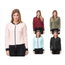 Sporty Trend Ladies Bomber Jacket Uni Plain
