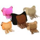 Großhandel Handtaschen: Damen Taschen Fransentasche Herz Hippie Style