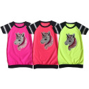 Kids Girl Trend T-Shirt Neon Unicorn Long