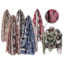 Women's Summer Scarves Star Heart Camouflage S