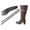 Bracelets shoelaces Unisex Design Leather Look
