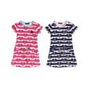 Großhandel Kinder- und Babybekleidung: Kinder Trend Mädchen Kleid Muster Anker Maritim