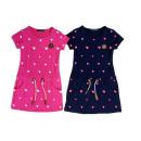 Kids trend girl dress pattern heart 2-12