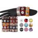 23cm chunk EasyButton leather bracelet pushbutton