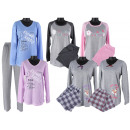Damen Schlafanzug 2-teiliges Set Schlafanzüge Lang