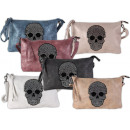 Ladies Bags Skull Faux Leather Solid Color