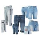 Damen Jeans Short  Hotpant Caprihose 3/4 Hosen