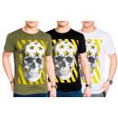 Mens Men Trend T-Shirt Skull Skull Star