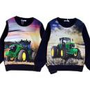 Kids boys pullover sweatshirt tractor farmer