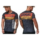 Herren Men T-Shirt  Fan WM Länder Shirt Deutschland