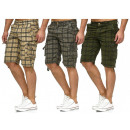 wholesale Shorts: Men Men Capri  Cargo Bermuda Plaid Short