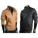 Men's leather  motorcycle jacket rockers oldsch