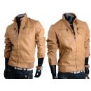 Men's imitation leather motorcycle jacket Rock