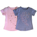 Kids Girls Trend T-Shirt Floral Beads