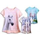 Kinder Mädchen  Trend T-Shirt Pferd Einhorn Tunika