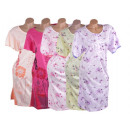 Women's Short Sleeve nightgowns pajamas 3/4 Sh