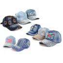 Großhandel Jeanswear: Basecap Jeans Cap Caps Kappe Strass Bling USA