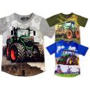 nagyker Ruha és kiegészítők: Kids Boys T-Shirt Bauer traktor 2-14 éves korig