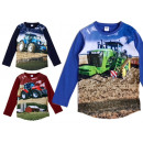 Kids boys tractor sweatshirt pullover shirt