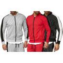 Men's Trend Cardigan Strip Jacket Zip Zipper