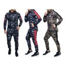 Men's jogging suit Camouflage trend stripes