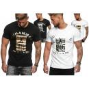 Men's Men's T-Shirt Silver Gold Print Muha