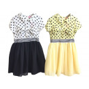 Kids girl summer trend dress collar bow