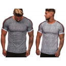 T-Shirt tendance pour hommes à rayures Basic