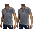 wholesale Shirts & Tops: Men Men Short  Sleeve Polo V-Neck motif print shell