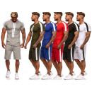 Tuta sportiva da uomo a righe da jogging