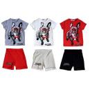 mayorista Deporte y ocio: Juego de traje de ocio para niños con 2 T-Shirt pe